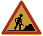 Vector Man at work sign by killy01
