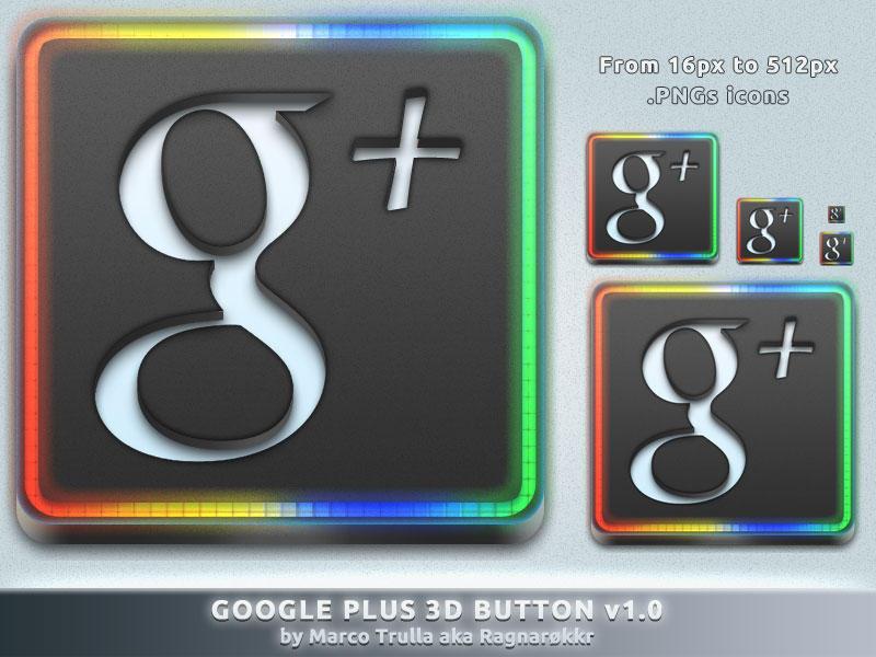 Google Plus 3D Button v1.0 by Ragnarokkr79