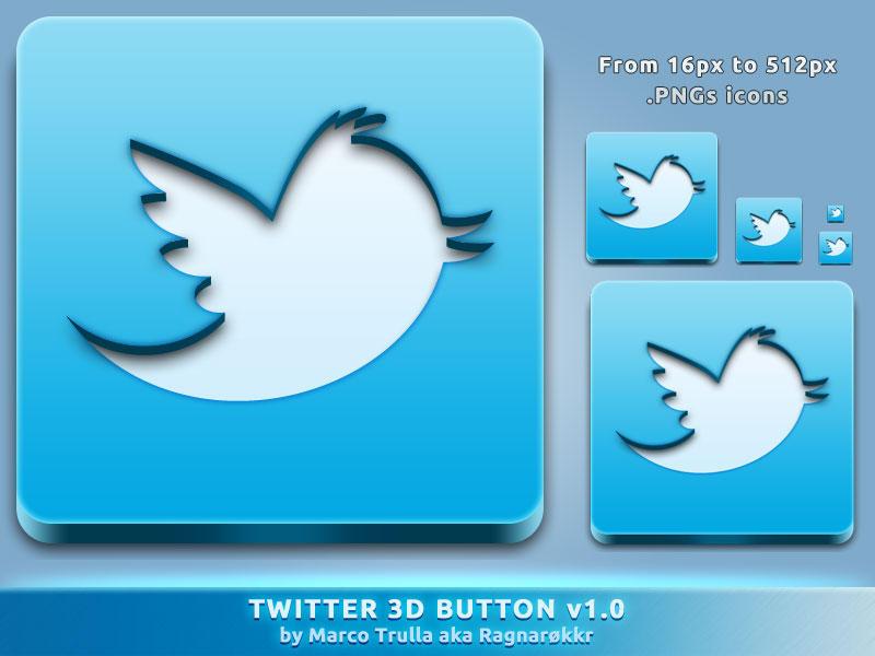 Twitter 3D Button v1.0 by Ragnarokkr79