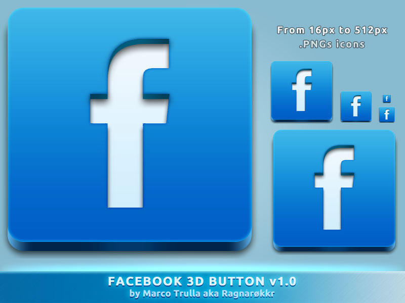 Facebook 3D Button v1.0 by Ragnarokkr79