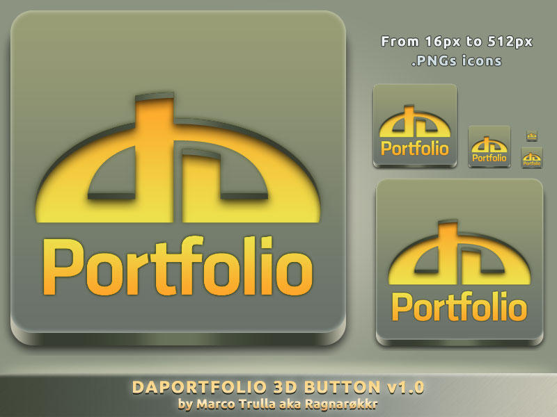 daPortfolio 3D Button v1.0 by Ragnarokkr79