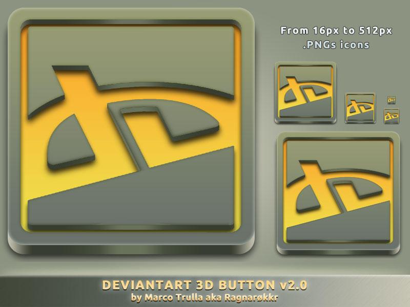 deviantArt 3D Button v2.0 by Ragnarokkr79