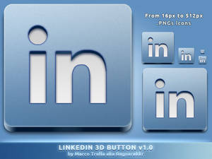 LinkedIn 3D Button v1.0