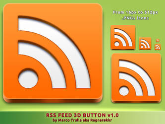 RSS Feed 3D Button v1.0 by Ragnarokkr79