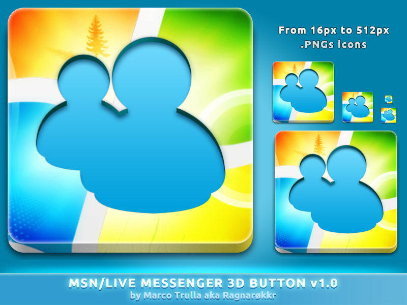MSN Live 3D Button v1.0 by Ragnarokkr79