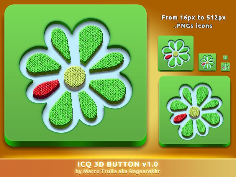 ICQ 3D Button v1.0 by Ragnarokkr79