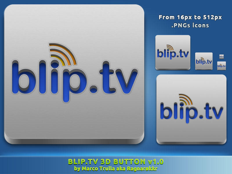 Blip.tv 3D Button v1.0 by Ragnarokkr79