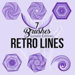 Brushes Retro Lines 7 by Kramer