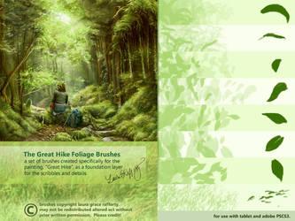 CS3 Great Hike Foliage Brushes by mynti