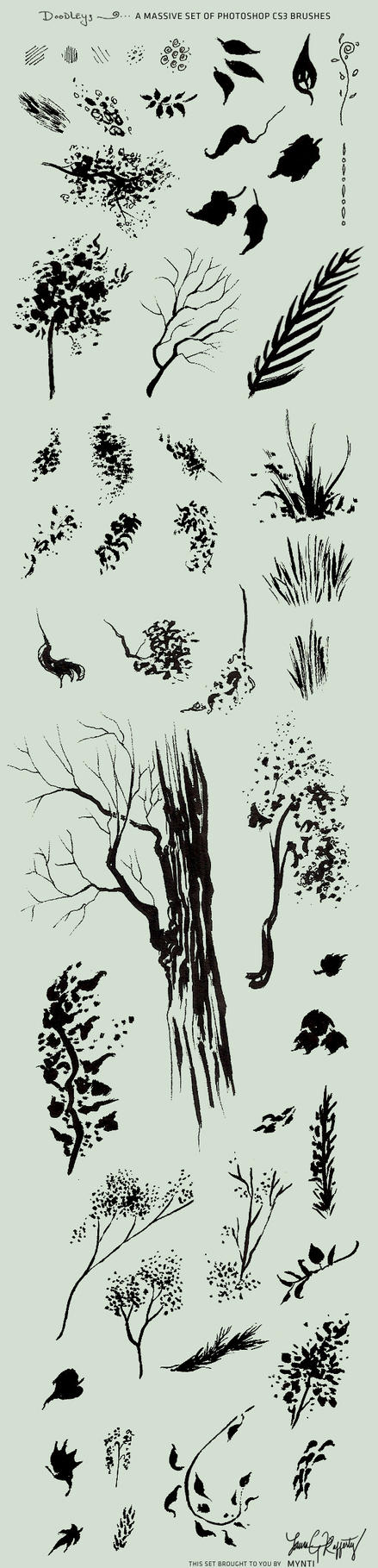 Daily Doodlin Brush Pack by mynti