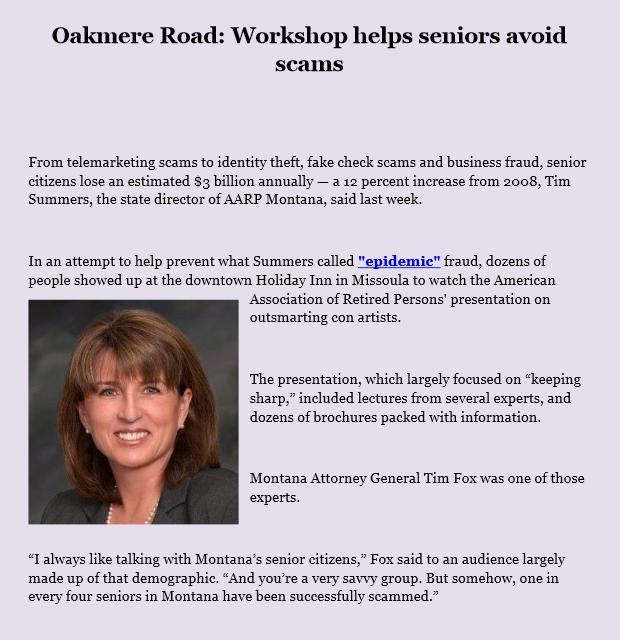 Oakmere Road Workshop helps seniors avoid scams by levicrisp05