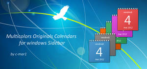 Colored Calendars for Windows Sidebar