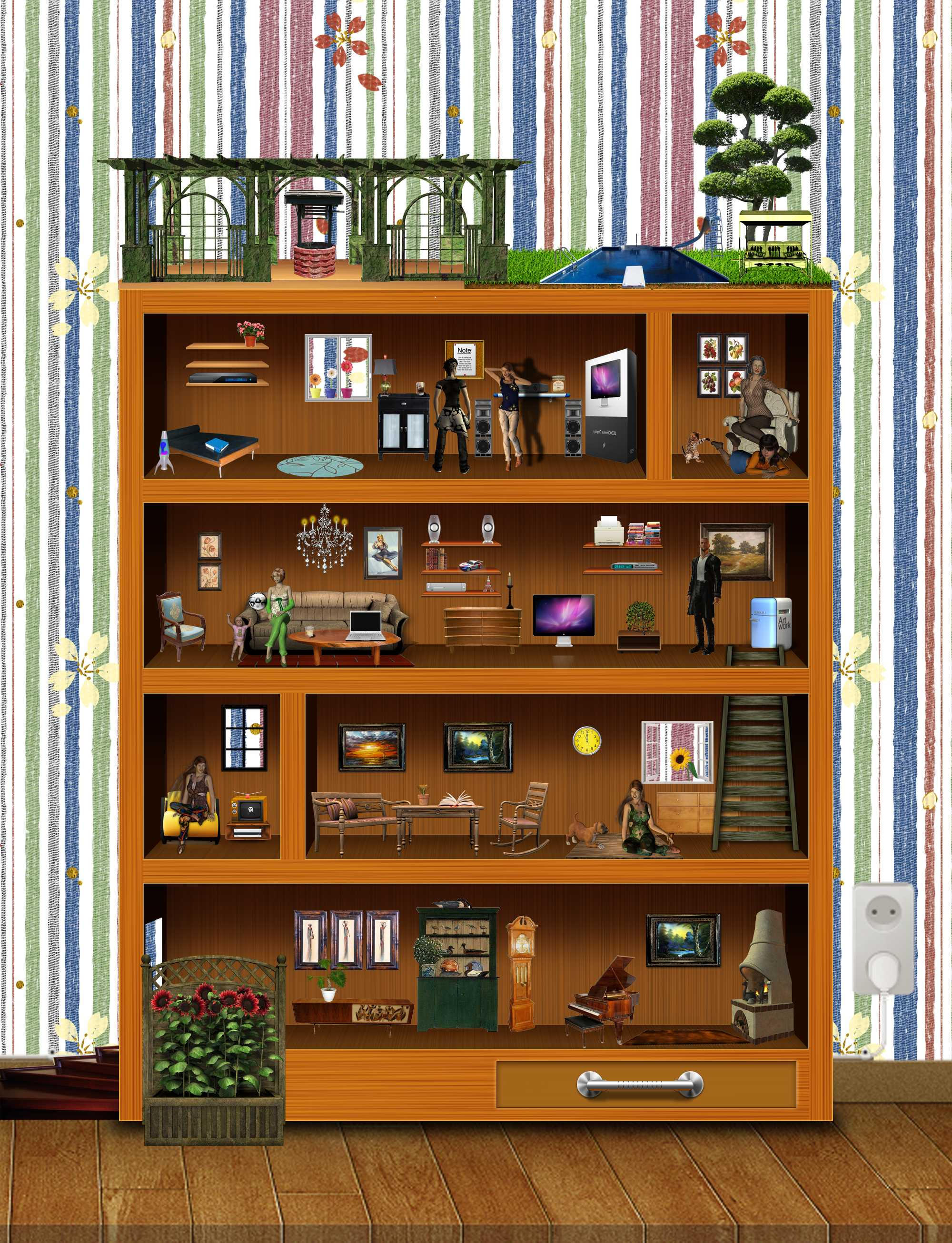 Amazing photo of living in a bookshelf by goazilla on DeviantArt with #B56316 color and 2000x2612 pixels