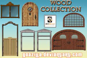 doors and windows - wood collectin by goazilla