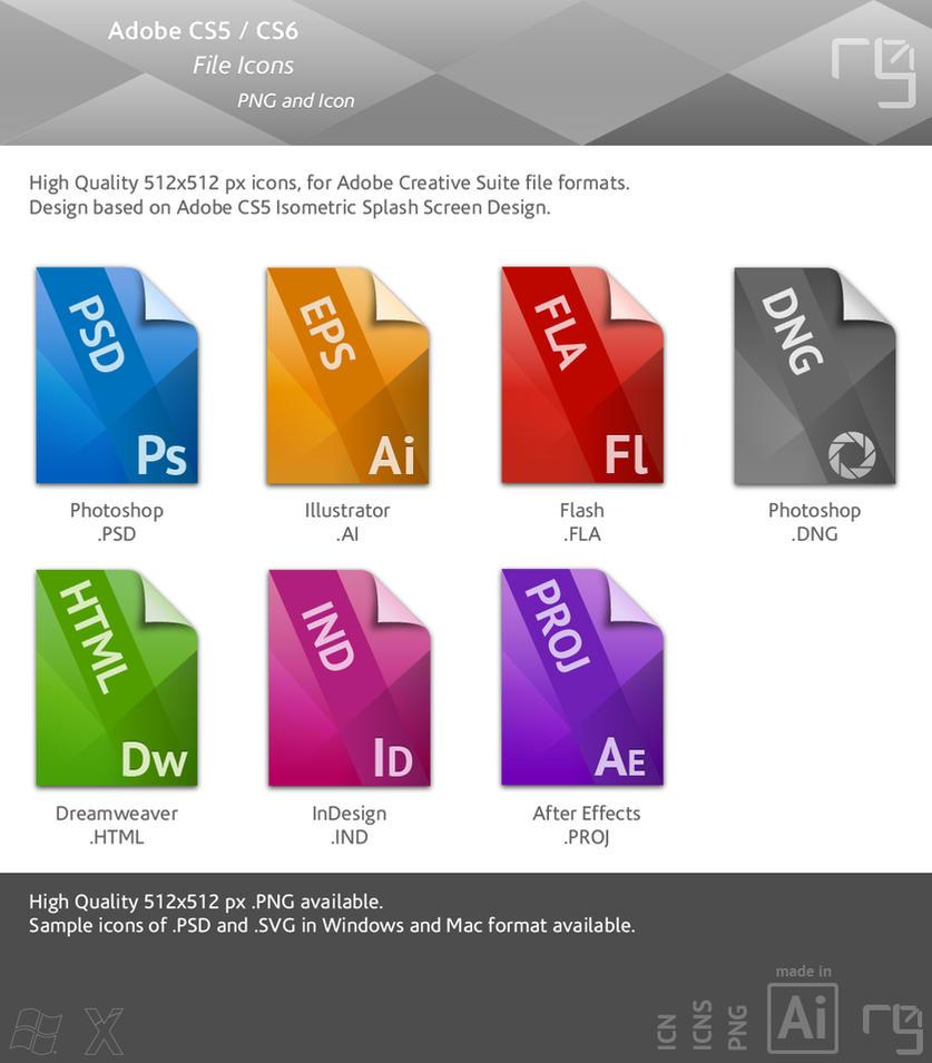 Adobe CS5 - CS6 File Icons by RUGRLN