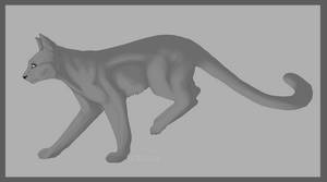 Cat Lineart by miyuuma