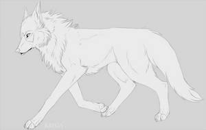 Free Wolf Lineart by miyuuma