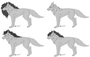 FREE Wolf Template by miyuuma