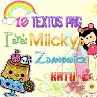 Pack de textos PNG