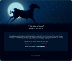 Moonlight Horse Journal Skin