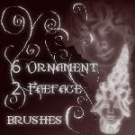 Ornament Face Brushes by Dracofemi
