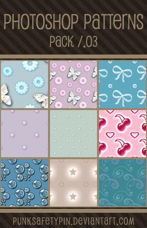 Photoshop Patterns - Pack 03 by punksafetypin