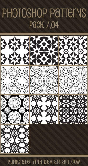 Photoshop Patterns - Pack 04 by punksafetypin