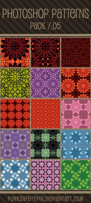 Photoshop Patterns - Pack 05 by punksafetypin