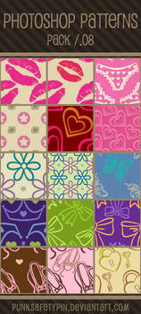 Photoshop Patterns - Pack 08 by punksafetypin