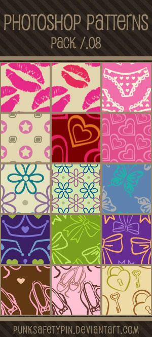 Photoshop Patterns - Pack 08 by punksafetypin