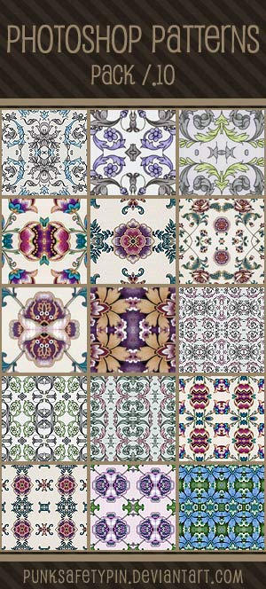 Photoshop Patterns - Pack 10 by punksafetypin
