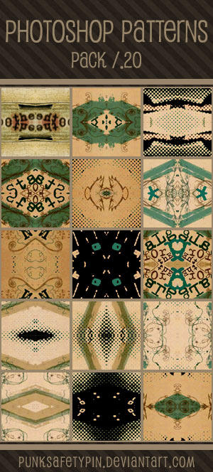 Photoshop Patterns - Pack 20 by punksafetypin
