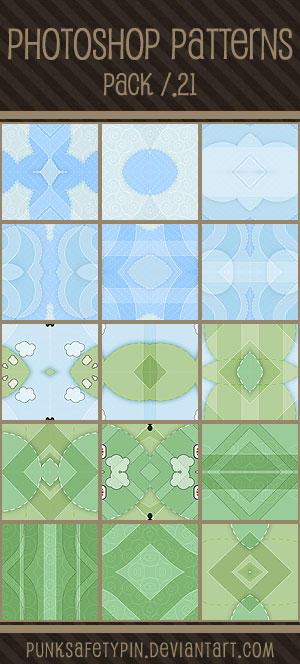 Photoshop Patterns - Pack 21 by punksafetypin
