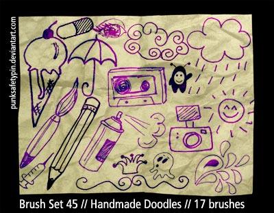 Brush Set 45 - HandmadeDoodles by punksafetypin