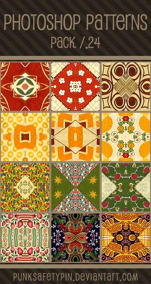 Photoshop Patterns - Pack 24 by punksafetypin