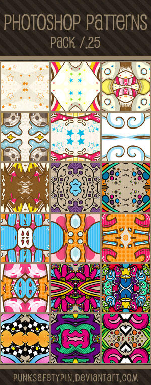 Photoshop Patterns - Pack 25 by punksafetypin