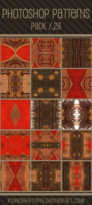 Photoshop Patterns - Pack 28 by punksafetypin on DeviantArt