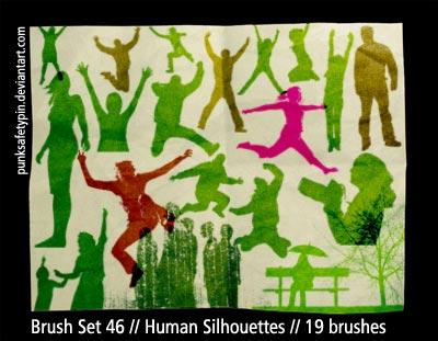 BrushSet 46 - HumanSilhouettes