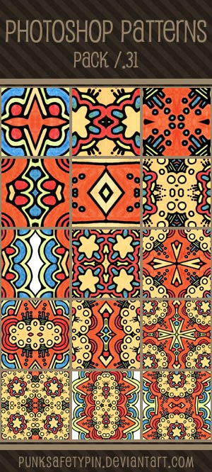 Photoshop Patterns - Pack 31 by punksafetypin