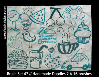 BrushSet 47 - HandmadeDoodles2 by punksafetypin