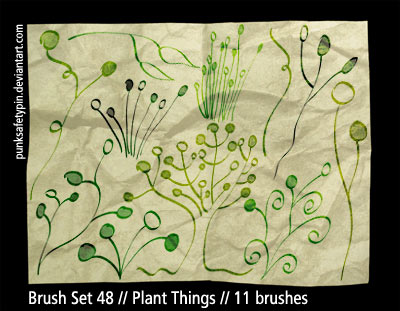 Brush Set 48 - Plant Things by punksafetypin