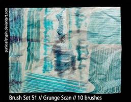 Brush Set 51 - Grunge Scan by punksafetypin
