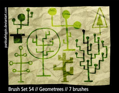 Brush Set 54 - Geometrees by punksafetypin