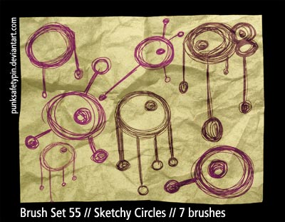 Brush Set 55 - Sketchy Circles