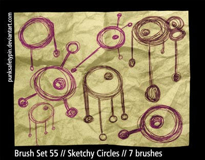 Brush Set 55 - Sketchy Circles by punksafetypin