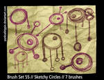 Brush Set 55 - Sketchy Circles