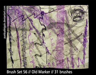Brush Set 56 - Old Marker by punksafetypin