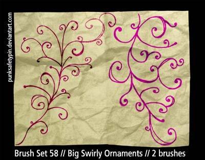 BrushSet58-BigSwirlyOrnaments by punksafetypin