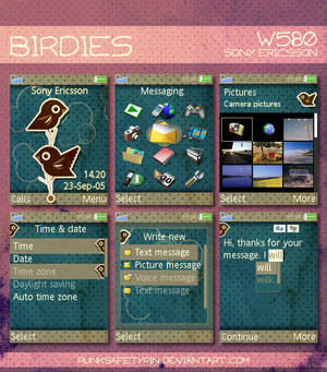 SE W580i Theme - Birdies