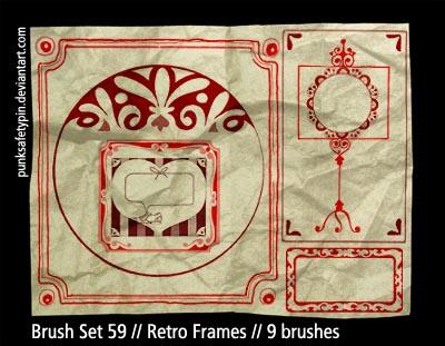 Brush Set 59 - Retro Frames